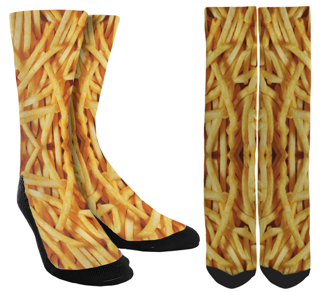 Take a Break with French Fry Crew Socks