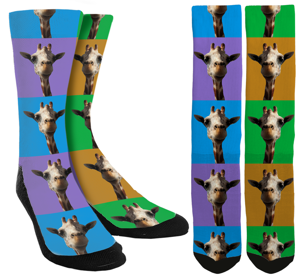Shake Things Up with Giraffe Crew Socks - You Deserve a Pair