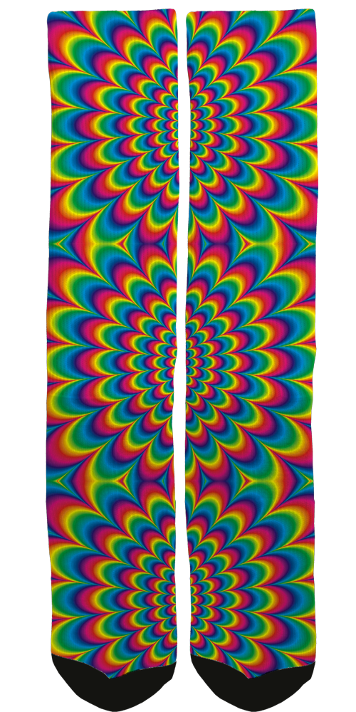 "Introducing Our ""Good Vibes"" Psychedelic Crew Sock Line"