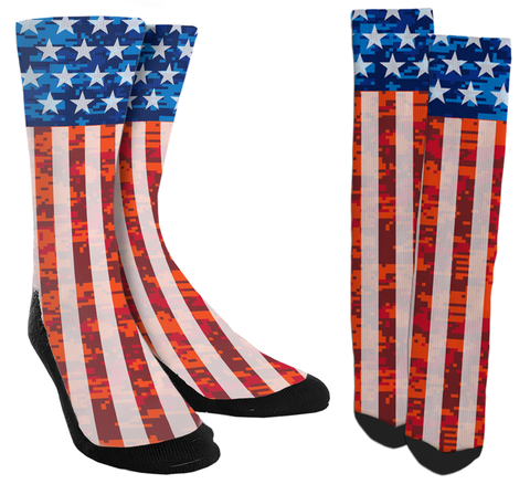 USA Socks, America Socks, American Flag, USA Soccer Socks