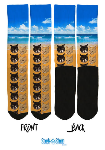 custom cat socks, custom pet socks, socks with your cat, cat socks, custom socks, customized socks, personalized socks, custom crew socks
