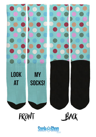 We're making new custom socks for customers everywhere day, and like to share them now and then.   Here at SockAndShop.com, we specialize in both custom socks and crazy, novelty socks, such as our poop emoji socks, gummy bear socks, and hanging sloth socks.  We offer all customers the opportunity to design their own socks, but have our own graphic designers do the actual design.   This ensures the customized sock design comes out looking highly clean and professional.   We offer custom socks and personalized socks with no minimum order quantity for all occasions and can produce nearly any type of customized socks design.   We have produced custom socks and personalized socks with polka dots, images sent by customer's, a variety of different colors, and much more.   Chances are, if you want it, we can do it!  We asked some of our customers if they were ok with us posting their custom socks online, and with many thanks to them, here's a look at a few of the most recent custom socks we have designed:  Custom Socks for Groomsmen  Custom socks for weddings and custom groomsmen socks are very common. We have created custom socks for groomsmen with funny photo's, sayings on the socks that were meaningful or inside jokes, photo's of the groom, and much more.   Many times, each groomsmen is given his own special custom sock.   For this particular customer, we produced a customized sock with the grooms face over the sock, and then additional custom socks with photo's that were inside jokes with the groomsmen.   custom socks, customized socks, personalized socks, design your own socks, custom crew socks, custom socks no minimum, custom groomsmen socks, custom wedding socks  custom socks, customized socks, personalized socks, design your own socks, custom crew socks, custom socks no minimum, custom groomsmen socks, custom wedding socks    custom socks, customized socks, personalized socks, design your own socks, custom crew socks, custom socks no minimum, custom groomsmen socks, custom wedding socks    Custom Gymnast Socks  We were contacted by a mother interested in purchasing custom socks for her daughters gymnast team. They wanted us to take their logo, remove the background colors, and place the logo on a purple sock with stars throughout the socks.   We were very happy to hear all of the team loved the socks!  custom socks, customized socks, personalized socks, design your own socks, custom crew socks, custom socks no minimum,