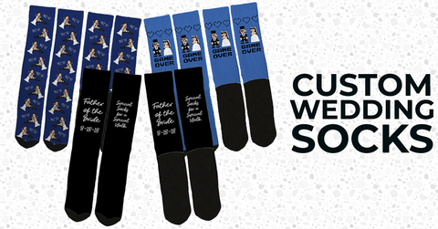 custom wedding socks, custom groomsmen socks