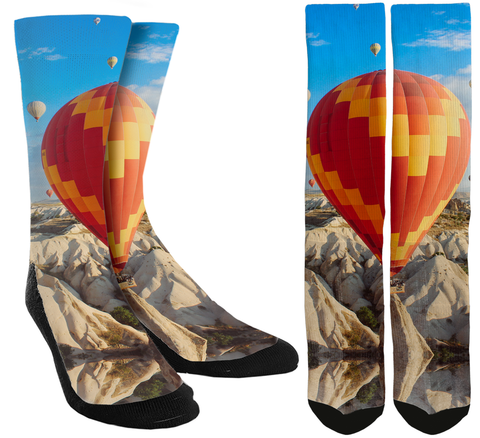 Hot Air Balloon Crew Socks - SockAndShop