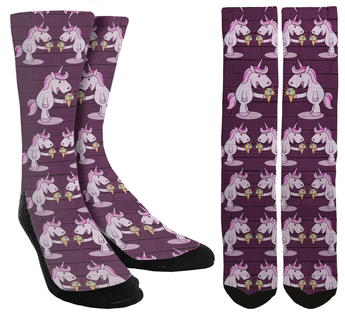 Unicorn Ice Cream Crew Socks - SockAndShop