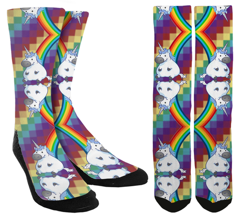 Unicorn Rainbow Crew Socks - SockAndShop