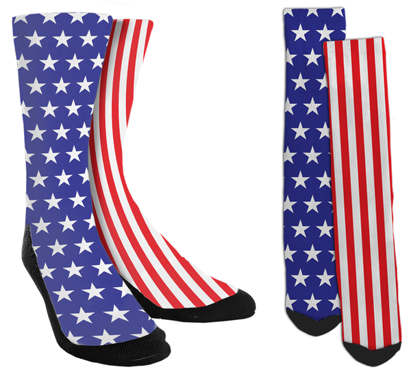 American Flag - Stars & Stripes Crew Socks - SockAndShop