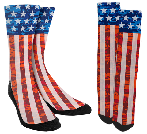 American Flag - USA Crew Socks - SockAndShop