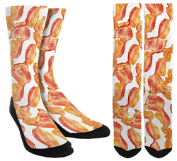 bacon socks, cool socks, cute socks, crew socks, crazy socks for men, , socks for men, socks for women, mens novelty socks, cool socks, unique socks, novelty socks, crazy socks, calf socks, mid-calf socks, unique crew socks, novelty crew socks,