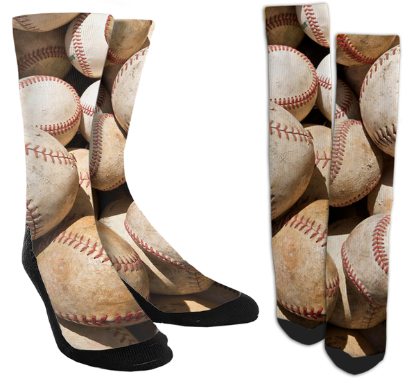Baseball - Baseballs Galore Crew Socks - SockAndShop