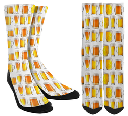 Beer Mug Crew Socks - SockAndShop