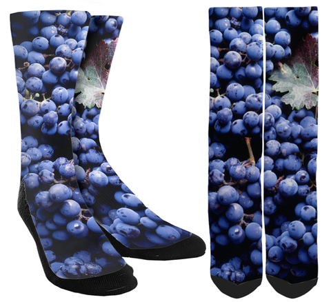 Blueberry Novelty Crew Socks - SockAndShop