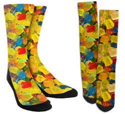 gummy bears, gummy bear socks, funny socks, cool socks, crazy socks, socks for men, socks for women, custom socks, customize your own socks, mens socks, womens socks, crew socks, custom crew socks, unique socks, novelty socks, crazy socks for men, crazy socks for women,