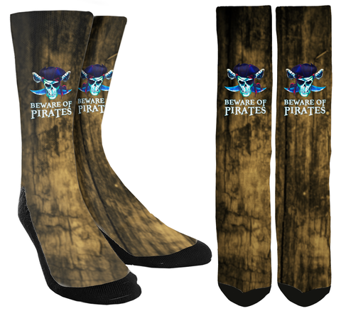 New Beware Of Pirate Crew Socks - SockAndShop