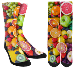 Fruit Lover Crew Socks - SockAndShop