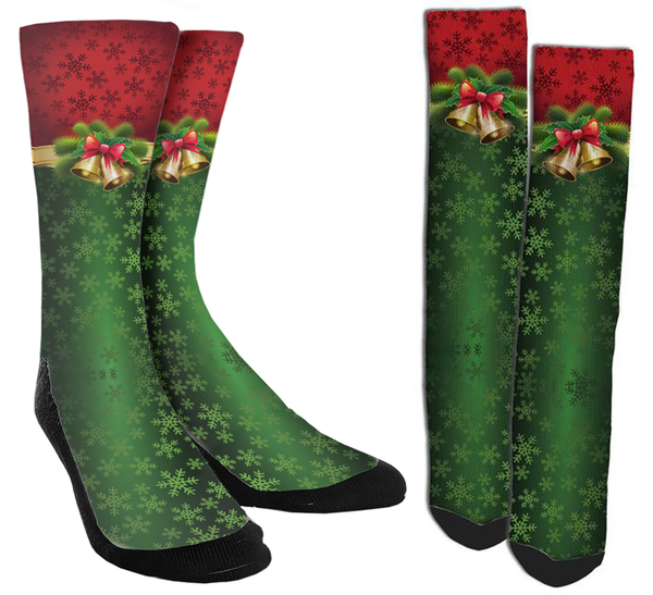 Holiday - Bell Crew Socks - SockAndShop