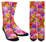 Valentines Day - Flower Crew Socks - SockAndShop