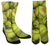 Softball Galore Crew Socks - SockAndShop