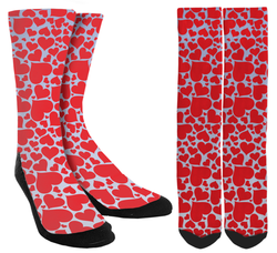 Valentines Day - Red Heart Crew Socks - SockAndShop