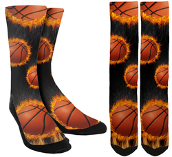 Basketball - Basketball Crew Socks - SockAndShop