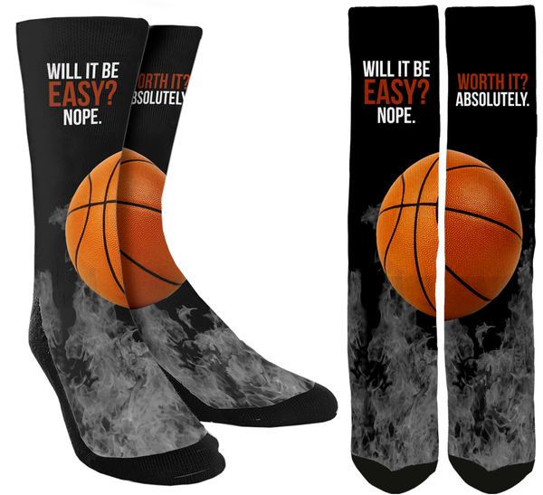 New Basketball Inspiration Crew Socks - SockAndShop