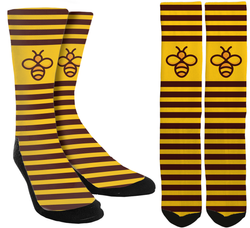 New Bee Crew Socks - SockAndShop