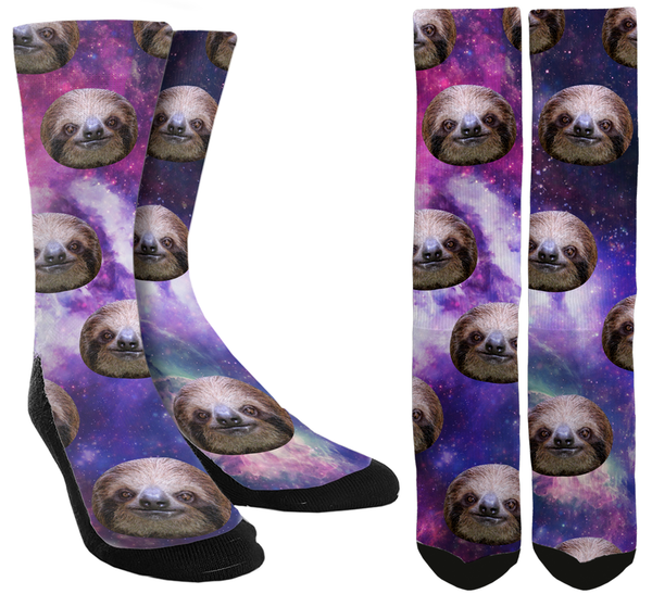 Sloths in Space Crew Socks - SockAndShop