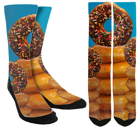 Donuts Galore Crew Socks - SockAndShop