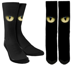 New Cat Eyes Crew Socks - SockAndShop