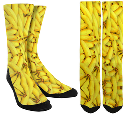 New Banana Crew Socks - SockAndShop