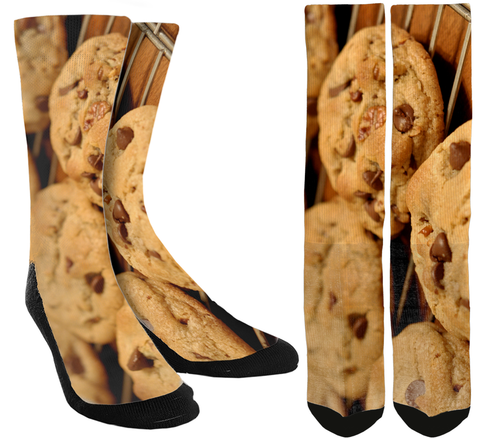 Chocolate Chip Cookie Crew Socks - SockAndShop