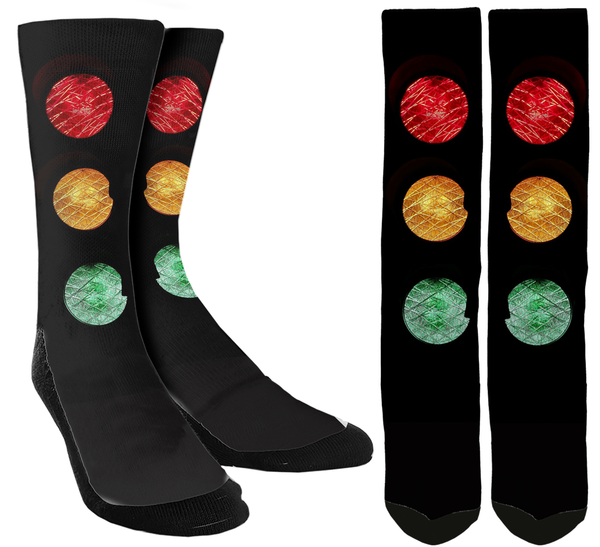 New Traffic light Crew Socks - SockAndShop