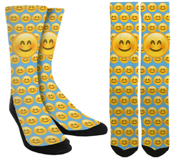 New Emoji - Happy Emoji Crew Socks - SockAndShop