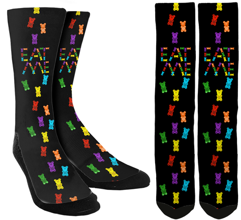 "Gummy Bear ""Eat Me"" Crew Socks - SockAndShop"