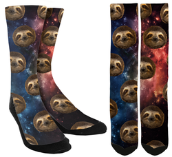 New Sloths in Space Crew Socks - SockAndShop