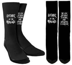 "Wedding Socks - Father of the Bride ""The Love Between"" Crew Socks - SockAndShop"