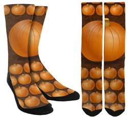 New Pumpkin Crew Socks - SockAndShop