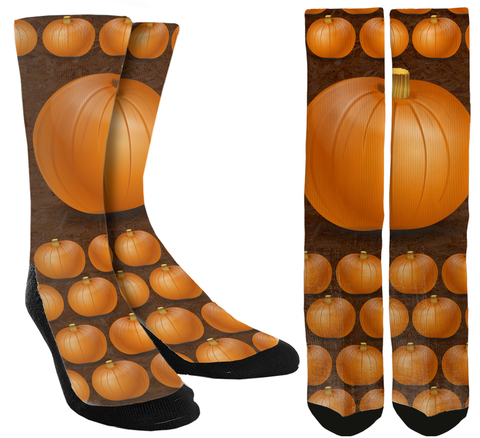 Pumpkin Crew Socks - SockAndShop