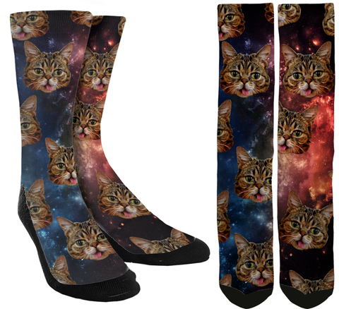 New Cats in Space Crew Socks - SockAndShop