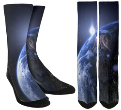 Galaxy Socks - Earth Crew Socks - SockAndShop
