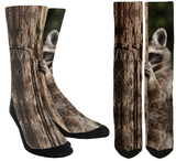 New Raccoon Crew Socks - SockAndShop