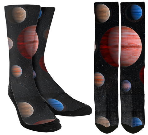Galaxy Socks  - Planet Crew Socks - SockAndShop