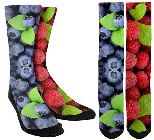 New Blueberry Mix Crew Socks - SockAndShop