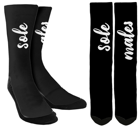 "Wedding Socks - ""Sole Mates"" Crew Socks - SockAndShop"