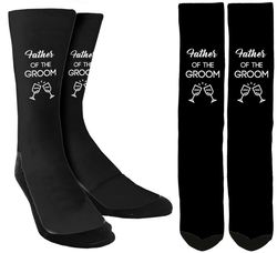 Wedding Socks - Father of the Groom Crew Socks - SockAndShop