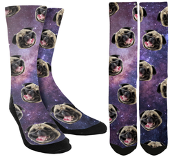 Pugs in Space Crew Socks - SockAndShop