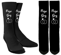 "Wedding Socks -  ""Page Boy"" Crew Socks - SockAndShop"