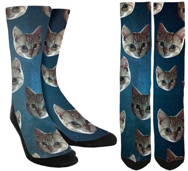 Cats in Space Crew Socks - SockAndShop