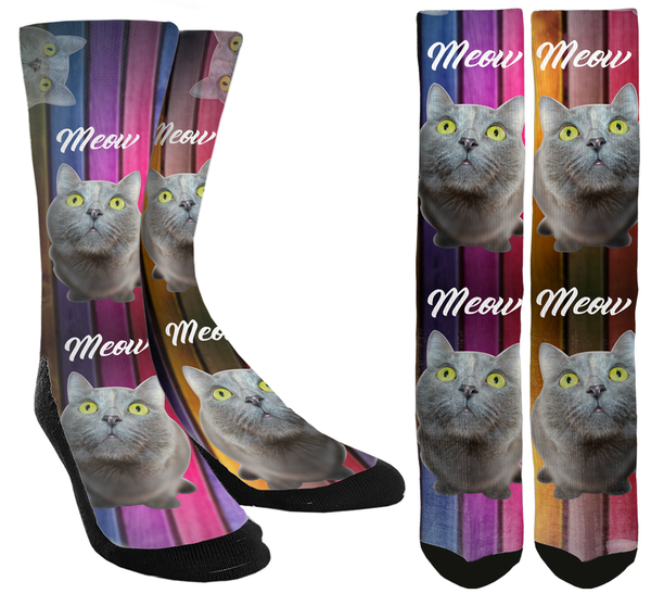 Meow Cat Crew Socks - SockAndShop