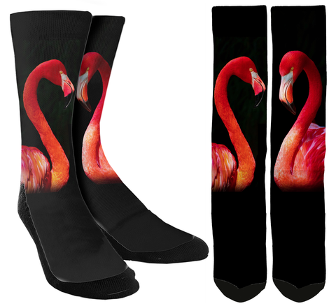 New Flamingo Crew Socks - SockAndShop